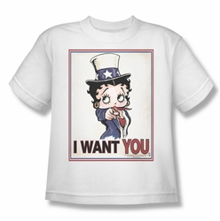Betty Boop youth teen t-shirt Auntie Boop white