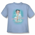Betty Boop youth teen t-shirt Bathing Beauty light blue