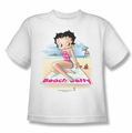 Betty Boop youth teen t-shirt Beach Betty white