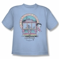 Betty Boop youth teen t-shirt Betty's Trolley light blue
