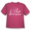 Betty Boop youth teen t-shirt Bettywood hot pink