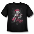 Betty Boop youth teen t-shirt Biker Babe black