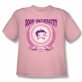 Betty Boop youth teen t-shirt Boop University pink