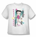 Betty Boop youth teen t-shirt Booping 80s Style white