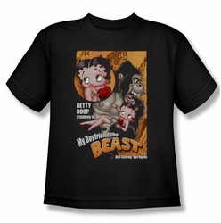 Betty Boop youth teen t-shirt Boyfriend The Beast black