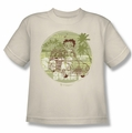 Betty Boop youth teen t-shirt California cream