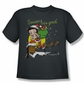 Betty Boop youth teen t-shirt Chimney charcoal