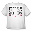 Betty Boop youth teen t-shirt Close Up white