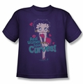 Betty Boop youth teen t-shirt Curves purple