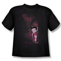 Betty Boop youth teen t-shirt Cutie black