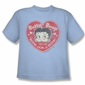 Betty Boop youth teen t-shirt Fan Club Heart light blue
