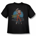 Betty Boop youth teen t-shirt Fries With That black