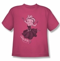 Betty Boop youth teen t-shirt Gypsy Betty hot pink