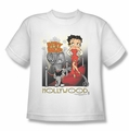 Betty Boop youth teen t-shirt Hollywood white