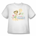 Betty Boop youth teen t-shirt Hot In Hawaii white