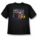 Betty Boop youth teen t-shirt Hot Rod Boop black
