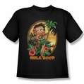 Betty Boop youth teen t-shirt Hula Boop II black