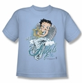 Betty Boop youth teen t-shirt I Believe In Angels light blue