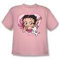Betty Boop youth teen t-shirt I Love Betty pink