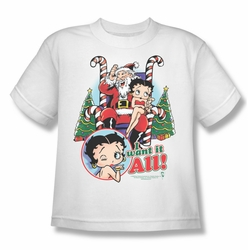 Betty Boop youth teen t-shirt I Want It All white