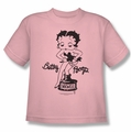 Betty Boop youth teen t-shirt Inkwell pink