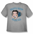 Betty Boop youth teen t-shirt Jean Co heather