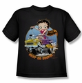 Betty Boop youth teen t-shirt Keep On Boopin black