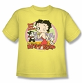 Betty Boop youth teen t-shirt Kiss banana