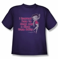Betty Boop youth teen t-shirt Learned From Betty purple