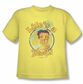 Betty Boop youth teen t-shirt Life's A Beach banana