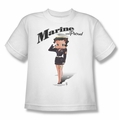 Betty Boop youth teen t-shirt Marine Boop white