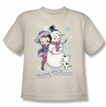 Betty Boop youth teen t-shirt Melting Hearts cream
