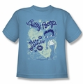 Betty Boop youth teen t-shirt Miss Behavin' carolina blue