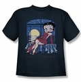 Betty Boop youth teen t-shirt Moonlight navy