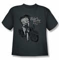 Betty Boop youth teen t-shirt Motorcycle Club BBMC charcoal