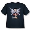 Betty Boop youth teen t-shirt Mushroom Fairy navy