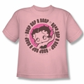 Betty Boop youth teen t-shirt Oop A Doop pink