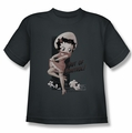 Betty Boop youth teen t-shirt Out Of Control charcoal