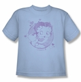 Betty Boop youth teen t-shirt Perfect Kiss light blue