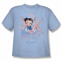Betty Boop youth teen t-shirt Pink Champagne light blue