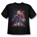 Betty Boop youth teen t-shirt Pop Star black