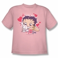 Betty Boop youth teen t-shirt Puppy Love pink