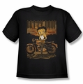 Betty Boop youth teen t-shirt Rebel Rider black