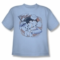 Betty Boop youth teen t-shirt S.S. Vintage light blue