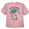 Betty Boop youth teen t-shirt Singing In Ny pink