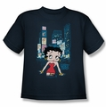 Betty Boop youth teen t-shirt Square navy