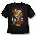 Betty Boop youth teen t-shirt Star Princess black