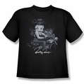 Betty Boop youth teen t-shirt Storm Rider black