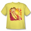 Betty Boop youth teen t-shirt Sunset Surf banana