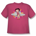 Betty Boop youth teen t-shirt Surf hot pink